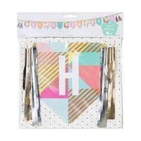 Guirlande happy birthday carton multicolore