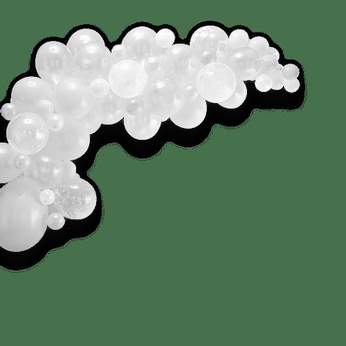 Arche De Ballon Latex Blanc x70