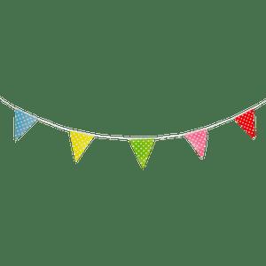 Guirlande papier Pois Multicolore
