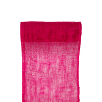 Chemin de Table Toile de Jute Fuchsia 5 M