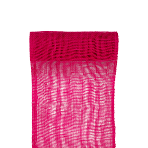 Chemin de Table Toile de Jute Fuchsia 5 M