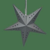 Etoile déco grise 60cm