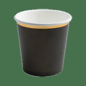 Gobelet Carton Noir et Or x6