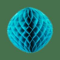 Boule chinoise alvéolée 30cm Bleu Pétrole