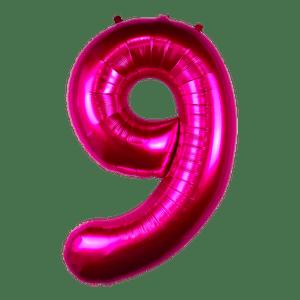 Ballon Chiffre 9 Fuchsia 90 cm