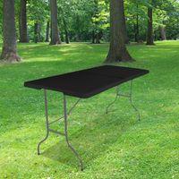Table Pliante 180x74 cm Noire