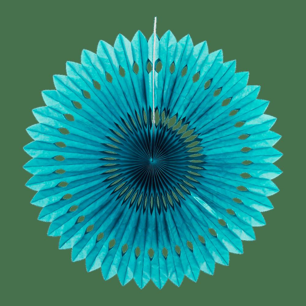 Rosace papier 50cm Bleu Pétrole