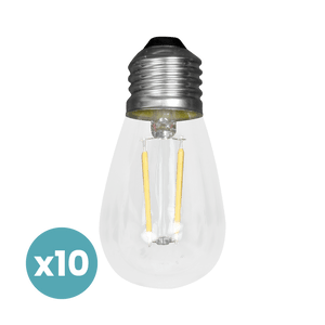 Ampoule Filaments LED Verre Transparent x10