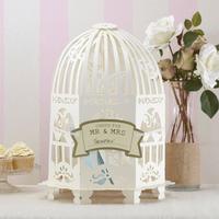 Livre D'Or Cage à Oiseaux Carton Blanc
