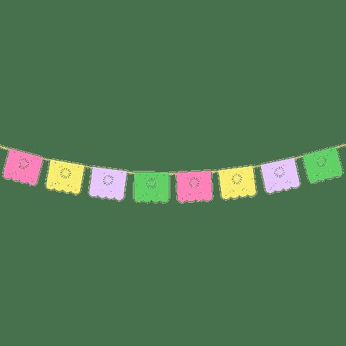 Guirlande Motif Mexicain Multicouleur 17,5 cm