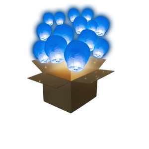 Balloon Bleu Roi x100