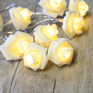 Guirlande Lumineuse Roses Blanches