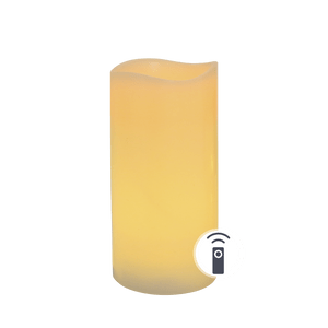 Bougie LED Ivoire Vagues 15cm Télécommandable