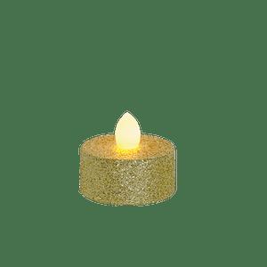 Bougie Chauffe Plat LED Or x6