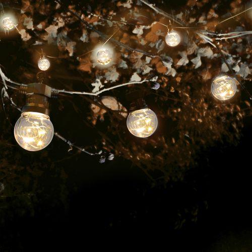 Guirlande Guinguette Micro LED 10 m Cable Noir