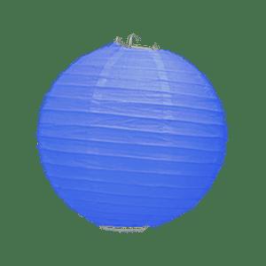Boule Papier Bleu Roi 20 cm x3