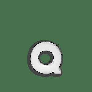 Lettre Q en Polystyrène 10cm