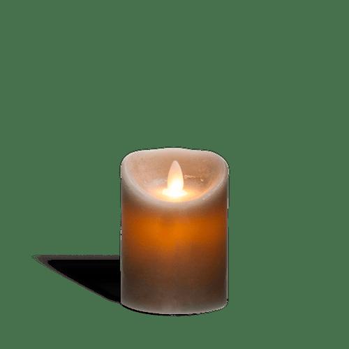 Bougie Led Flamme Vacillante Gris 10 cm