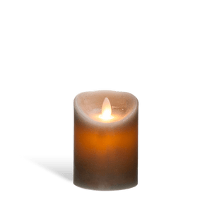 Bougie Led Flamme Vacillante Gris 10 cm