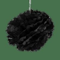 Pompons Noir 40 cm x2