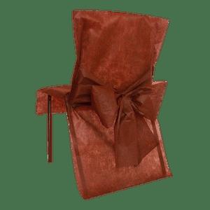 Housse de Chaise avec nœud Chocolat x10