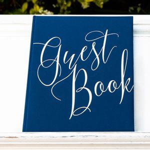 Livre D'Or Guest Book Bleu 24,5 cm