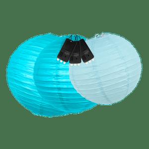 Boules + LED Bleues