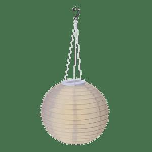 Lampion Solaire 28CM Blanc