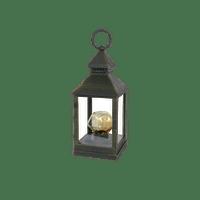 Lanterne Ampoule Diamand Plastique Noir