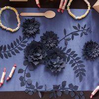 Fleurs Papier Marguerite Centre de Table Navy x3