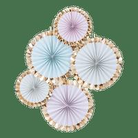 Kit Rosaces Or Et Pastel x5
