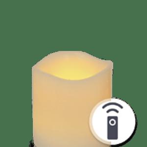 Bougie LED Ivoire Vagues 7,5cm Télécommandable