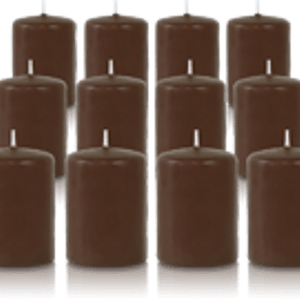 Pack de 12 bougies votives Cappuccino 5x7cm