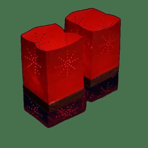 Lanternes Flottantes Soirée Mariage & Fête, Anniversaire, Fête Sac Lumineux Flottant Tulum Rouge (Lot De 10 Pièces)