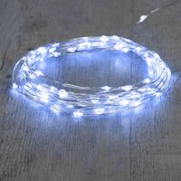 Guirlande 10 M Argent 100 Micro LED Blanc Froid