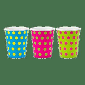 Gobelet Multicolore Basic x6