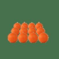 Pack de 12 bougies ronde Orange 7cm