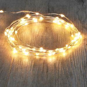 Guirlande Lumineuse Argent 80 Micro LED Blanc Chaud
