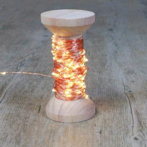 Guirlande Micro-Led Cuivre 10 m avec Bobine 100 LEDs