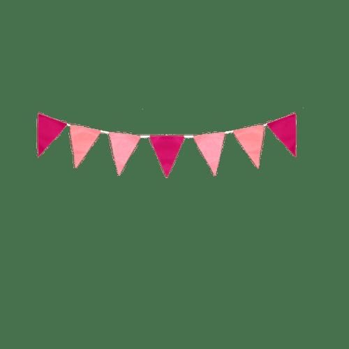 Déco Pour Soirée Mariage & Fête, Anniversaire, Fête Guirlande Papier Rose (Lot De 3 Pièces)