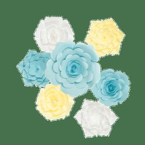 Kit Fleurs En Papier Azure x7