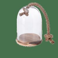 Cloche En Verre avec corde 20 cm