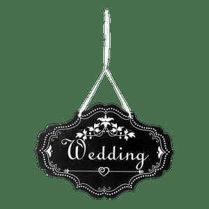 Pancarte Wedding Ovale Noir Noir
