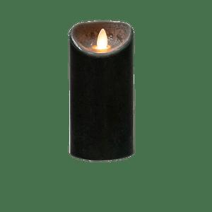 Bougie Led Flamme Vacillante Noir 20 cm