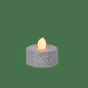 Bougie Chauffe Plat LED Argent x6