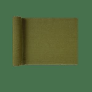 Chemin De Table Coton Vert Fonçé 3 m