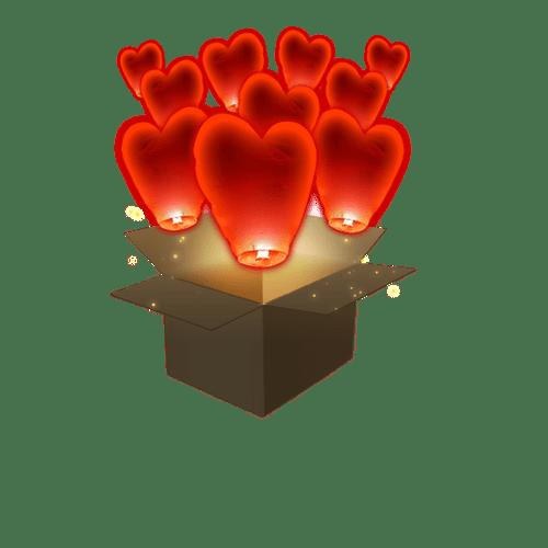 Coeur Rouge x10