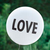 Ballon Géant Blanc Love