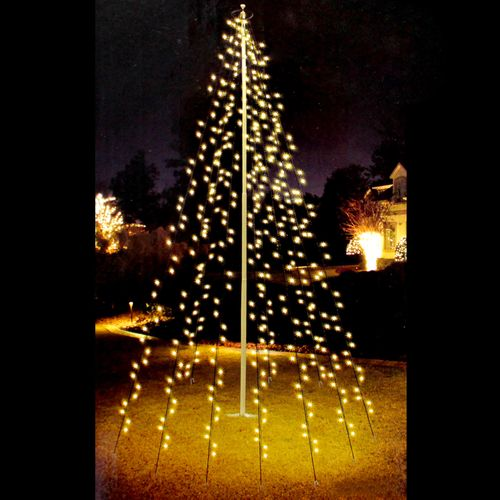Guirlande Lumineuse pour Mât 360 LEDs Blanc Chaud 10x8 m