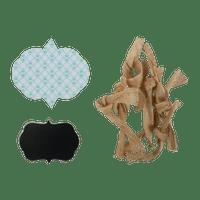 Kit 25 Pièces Diy Carton Bleu et Naturelle